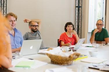 Reunião HOBRA - Jorn Konijn, Paula Camargo e Ailton Franco Jr.
