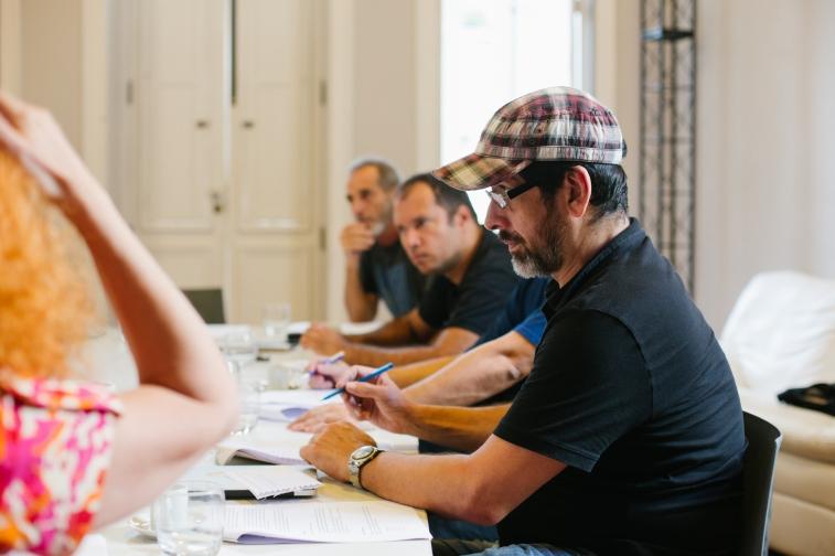 Reunião HOBRA - Victor Haim, Batman Zavareze e Cesar Augusto